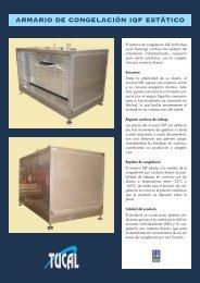 Catálogo de armarios IQF estáticos - Tucal