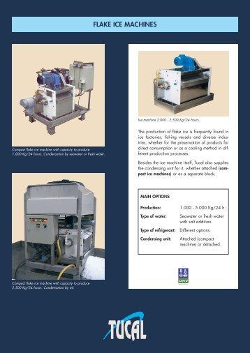 FLAKE ICE MACHINES - Tucal