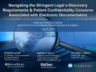 Navigating the Stringent Legal e-Discovery ... - Tucker Ellis | LLP