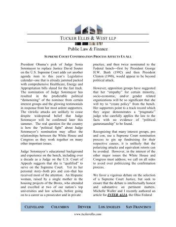 View as PDF - Tucker Ellis