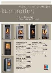 Aktionswochen nur bis 31. März 2010 - straub-kachelofen.de