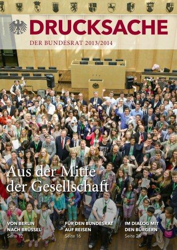 DRUCKSACHE – Der Bundesrat 2013/2014