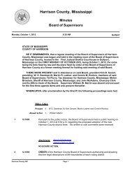 Official Agenda - Harrison County