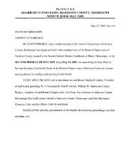 minutes board of supervisors, harrison county, mississippi minute ...