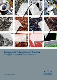 Environmental Technologies and Recycling Ecological ... - Ferrostaal