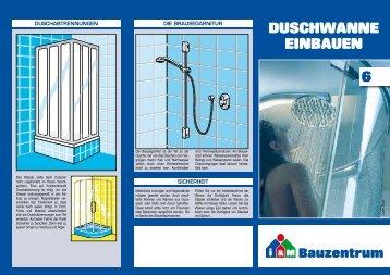 6. Duschwanne einbauen - Bauzentrum Mehring