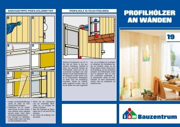 Profilhölzer an wänden