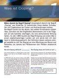 Gemeinsam gegen Doping - Selltec Communications GmbH - Seite 6