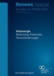 Renews Spezial - Holzenergie - Agentur für Erneuerbare Energien