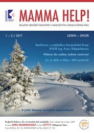 1 — 2 / 2011 LEDEN — ÚNOR Rozhovor s ... - Mamma HELP