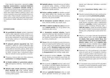 Dieta diabetická šetřící více - Masarykův onkologický ústav