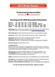 * Wertung für den SparkassenGrandPrix Meldungen ... - SSC Vellmar