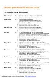 Liste der geehrten SSC Sportler 2007 - SSC Vellmar