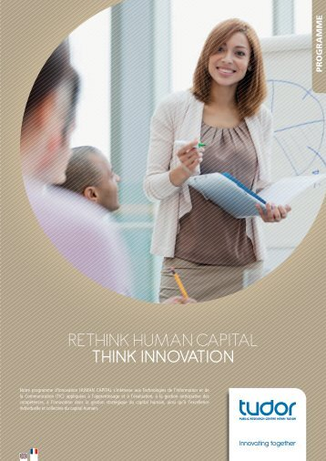 RETHINK HumaN capITal THINK INNOVATION - CRP Henri Tudor