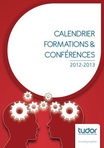Calendrier formations & ConférenCes - CRP Henri Tudor