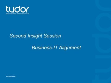 Second Insight Session Business-IT Alignment