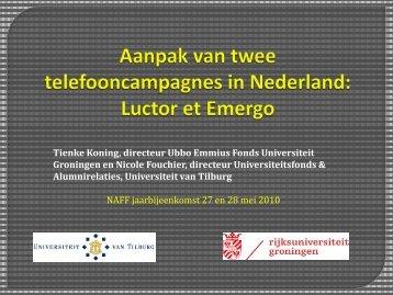 Tienke Koning, directeur Ubbo Emmius Fonds Universiteit ...