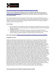 Current Development of the Global LTE Subscriber Market, 3Q 2014 Industry Research Report