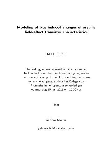 Modeling of bias-induced changes of organic field-effect transistor ...