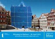 Postkarte Klimatag 2012 - Tübingen macht blau