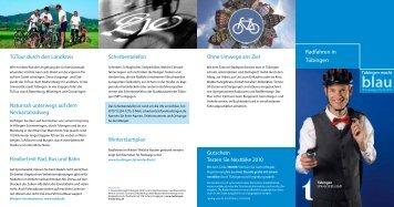 Radfahren in Tübingen - Tübingen macht blau