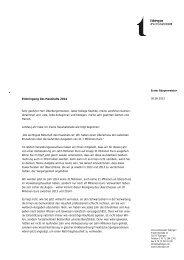 Rede zur Einbringung des Haushalts 2014 - in Tübingen