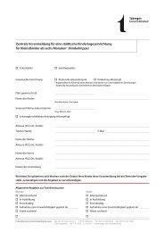 Zentrale Voranmeldung für eine städtische ... - in Tübingen