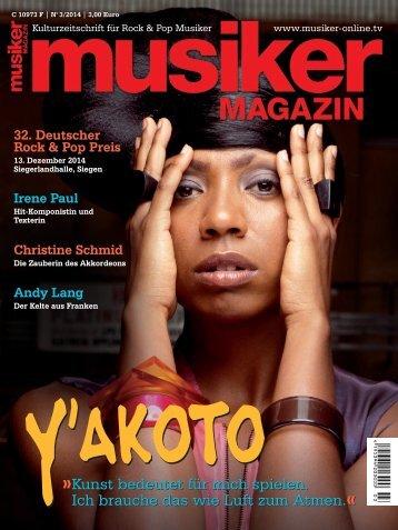 Musiker Magazin 03/2014