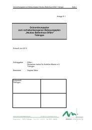 Grünordnungsplan vom Juni 2013, PDF - in Tübingen