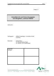Umweltbericht und Grünordnungsplan vom 28. August ... - in Tübingen