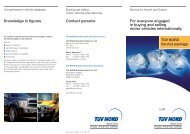 Contact persons For everyone engaged in buying and ... - TÜV Nord