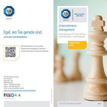 Unternehmensmanagement – Termine 2014 [PDF] - TÜV Süd
