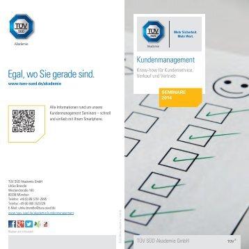 Kundenmanagement – Termine 2014 [PDF] - TÜV Süd