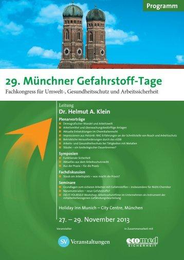 29. Münchner Gefahrstoff-Tage