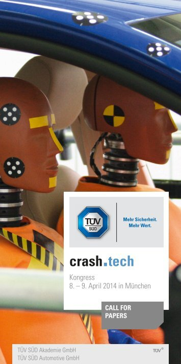 Crash-Tech 2014 – Call for Papers - TÜV Süd