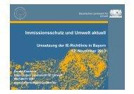Umsetzung der IE-Richtlinie