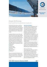 TÜV SÜD Industrie Service GmbH Energie-Zertifizierung