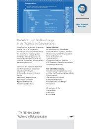 Redaktions- und Grafikwerkzeuge in der Technischen ... - TÜV Süd