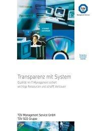 Transparenz mit System - TÜV Süd