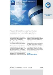"TÜV SÜD Industrie Service GmbH ""Energy-Efficient Enterprise ..."