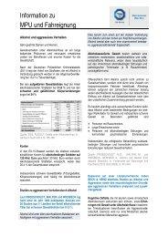 Information zu MPU und Fahreignung - TÜV Süd