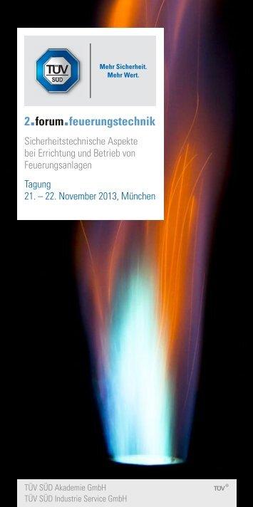 Programm 2. Forum Feuerungstechnik - TÜV Süd