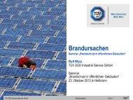 """Brandursachen Seminar """"Brandschutz in öffentlichen ... - TÜV Süd"""