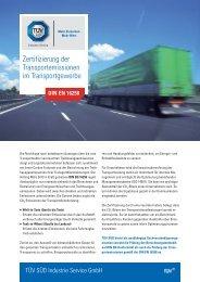 Zertifizierung der Transportemissionen im ... - TÜV Süd
