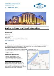 Anfahrtsskizze und Hotelinformation - TÜV Süd