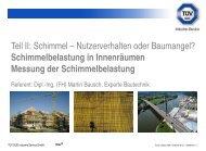 Schimmelbelastung in Innenräumen Messung der ... - TÜV Süd