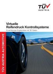 Virtuelle Reifendruck Kontrollsysteme - TÜV Austria