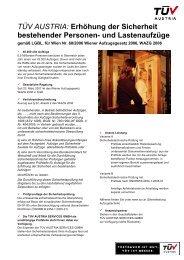 Erhöhung der Sicherheit bestehender Personen- und ... - TÜV Austria