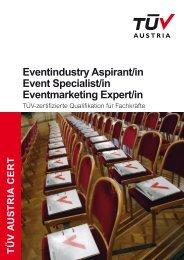Folder Zertifizierung Eventmanagement (pdf, 2 MB) - TÜV Austria