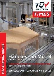 Härtetest für Möbel - TÜV Austria